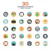 Set of modern flat design Business and Finance icons — Stock Vector