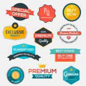 Collection of modern, flat design-styled labels and design eleme — Stock Vector