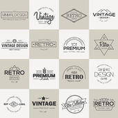 Minimal vintage Labels and badges collection — Stock Vector
