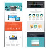 Website interface template — Stock Vector