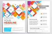 Brochure Design Template — Stock Vector