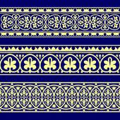 Set of three vector ornament borders — Stock Vector