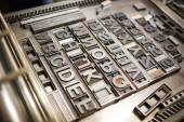 Old typography printing machine — Stock Photo