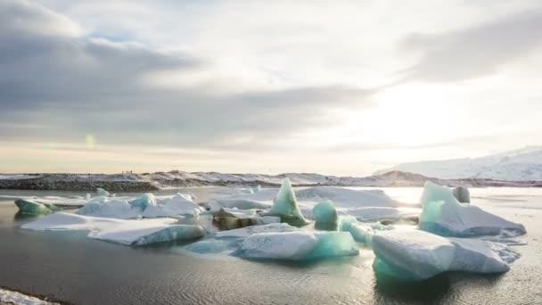 Islandia, Laguna glaciar de Jokulsarlon composición video timelapse — Vídeo de stock