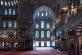 Interior shot of mosque in Istanbul, Turkey. — Stock Photo