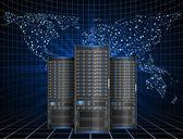 Server in cyberspace — Stock Vector