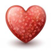 Conceptual heart symbol — Stock Vector