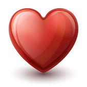 Glassy heart — Stock Vector