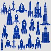 Set of Rockets — Stock Vector