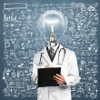 Lamp Head Doctor Man With Stethoscope — Stock Photo #51977455