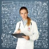 Doctor woman looking at camera — Stock Photo