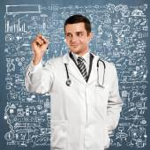 Doctor Man Writing Something — Stock Photo