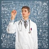Doctor Male Writing Something — Stock Photo