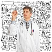 Doctor Male Writing Something — Stock Photo