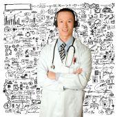 Lekarz ze słuchawkami — Zdjęcie stockowe