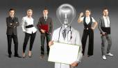 Business Team With Lamp Head Doctor — Stock Photo