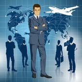 Businessmen In Suit — Stock Vector