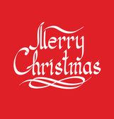 Texto de natal feliz — Vetor de Stock