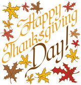 Thanks Giving text — Stock Vector