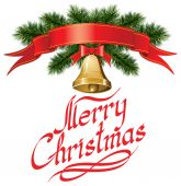 与圣诞树圣诞铃声 — 图库矢量图片