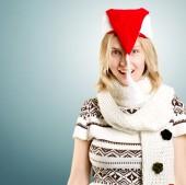 Женщина ждет Рождество — Стоковое фото