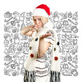 クリスマスを待っている女性 — ストック写真