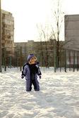 Kleine jongen hebben Winterpret — Stockfoto