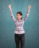 Asian Girl With Well Done — Stock Photo