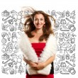 Woman Looking For Christmas Gifts — Stock Photo #59892153