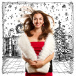 Woman Looking For Christmas Gifts — Stock Photo #59892187