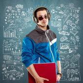 Young man life concept — Stock Photo