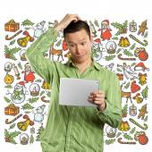 Man Looking For Christmas Gifts — 图库照片