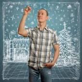 Man Looking For Christmas Gifts — Stock Photo