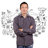 Asian Man With Folded Hands — Stock Photo