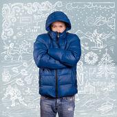 Азиатский человек в мягкие пальто — Стоковое фото