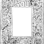 Love story frame background — Stock Vector #63363369