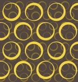 Napkin with yellow circles — Stock Vector
