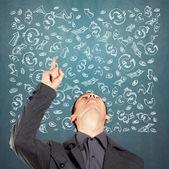 Unternehmer auf der suche nach oben — Stockfoto