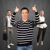 Asian man showing well done — Stock Photo