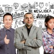 Young multinational business Team — Stock Photo #65769305