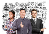 Young multinational business Team — Stock Photo