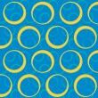 Napkin with circles on blue — Stock Vector #66300947