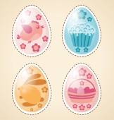 Easter elements rabbit, eggs — Stock Vector