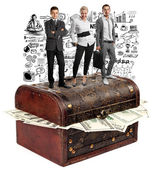 Business team and USA Dollars — Fotografia Stock