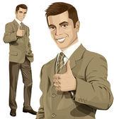 商务男人演示做得很好 — 图库矢量图片