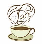 茶杯与题字 — 图库矢量图片