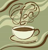 Чашка чайная с надписью — Cтоковый вектор