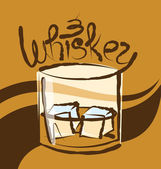 Glas whiskey mit eis — Stockvektor