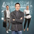 Teamwork and Asian Man With Folded Hands — Stock Photo #70789665