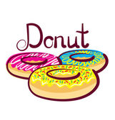 Donut with calligraphic inscription — Stock Vector
